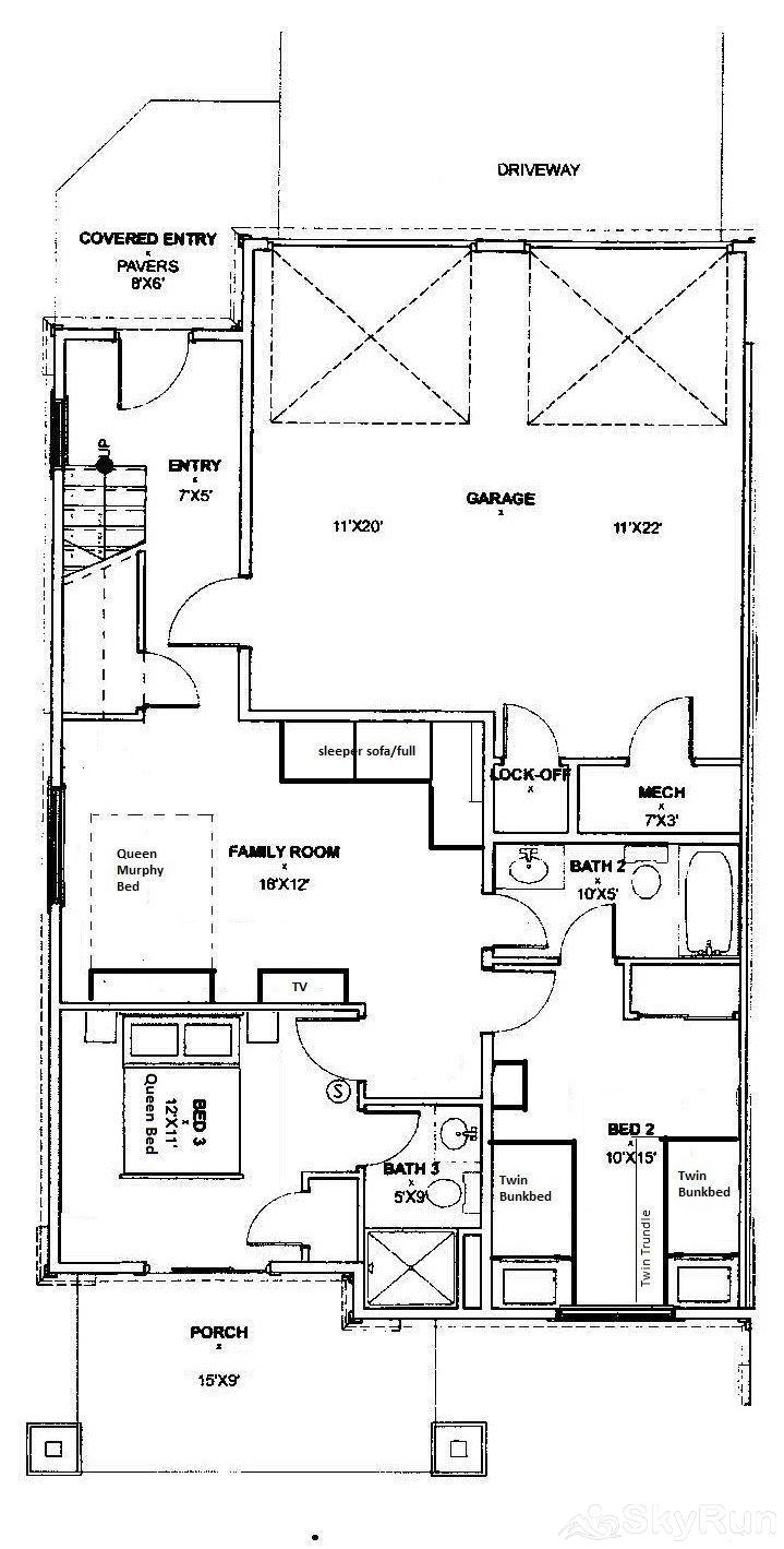 47b river run townhomes mountain skyrun vacation for Townhome layouts